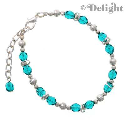 C2238 tlf - Beaded Bracelet - Teal (3 per package)