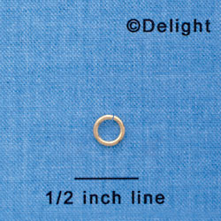 G1001 tlf - 6mm Gold Plated Jump Rings - 18 Gauge (1mm) (144 per package)