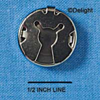 G0253 tlf - 18mm Button Cover - Nickel Plated Finding (100 per package)
