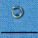 G4933 tlf - 4mm Gold Tone Jump Rings - 21 Gauge (.7mm) (144 per package)