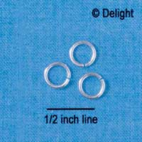 G5489 tlf - 7mm Jump Rings - 18 Gauge (1 mm) (144 per package)