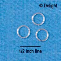 G5490 tlf - 8mm Jump Rings - 18 Gauge (1 mm) (144 per package)