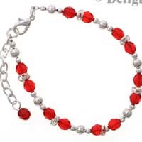 C2230 tlf - Beaded Bracelet - Red (3 per package)