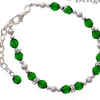 C2234 tlf - Beaded Bracelet - Green (3 per package)