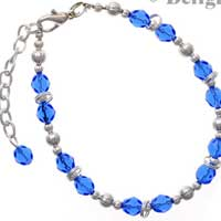 C2385 tlf - Beaded Bracelet - Blue (3 per package)