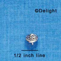 F1156 tlf - Large Silver Eye Pin for Shoe Decoration (6 per package)