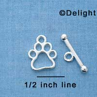 F1294 tlf - Open Paw & Bar Toggle Set (6 sets per package)