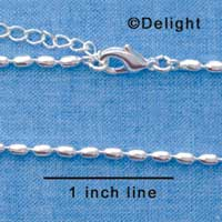 F1316 tlf - Medium Bead - Silver Plated Necklace (16