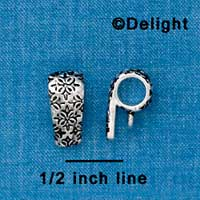 F1334 tlf - Antiqued Moorish Pattern - Silver Plated Bail with Loop (6 per package)