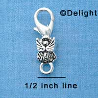 F1364 tlf - Silver Angel - Im. Rhodium Plated Lobster Claw Clasp (6 per package)