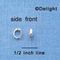 F1424 tlf - 8x6x2mm Hinged Bail - Im. Rhodium Plated Finding (2 per package)