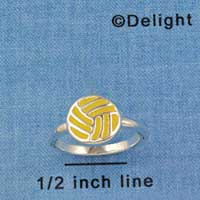 F1444 tlf - Enamel Water Polo Ball - Size 7 - Silver Plated Ring (6 per package)