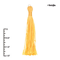 F2416+ tlf - Yellow Tassel - Fabric Charm (6 per package)