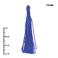 F2418+ tlf - Blue Tassel - Fabric Charm (6 per package)