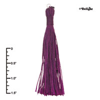 F2420+ tlf - Purple Tassel - Fabric Charm (6 per package)