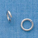 G1010 tlf - 6mm Jump Rings - 18 Gauge (1 mm) - Im. Rhodium Plated (144 per package)