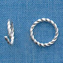 G1022 tlf - 10mm Fancy Jump Ring -18 Gauge (1mm) - Silver Plated (100 per package)