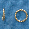 G1023 tlf - 10mm Fancy Jump Ring - 18 Gauge (1mm) - Gold Plated (100 per package)