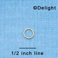 G1042 tlf - 8mm Jump Rings - 18 Gauge (1 mm) (144 per package)