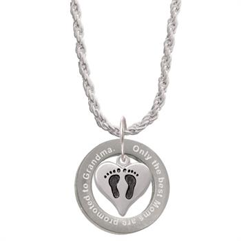 Promoted to Grandma Affirmation Ring Necklace - Get It Engraved! Jewelry Idea