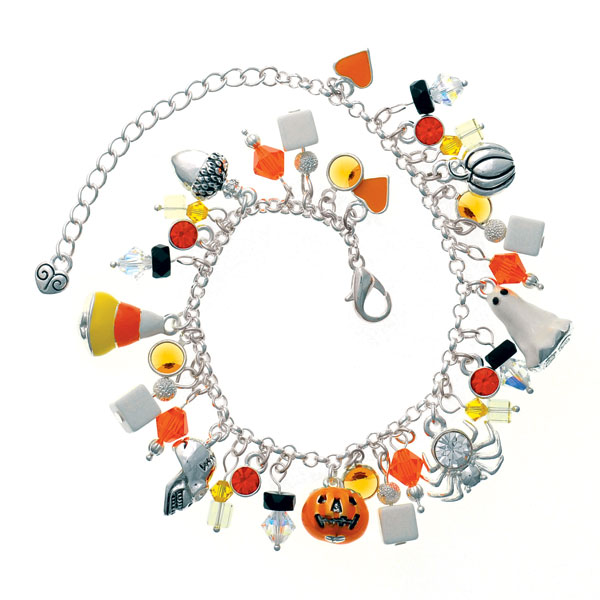 Halloween Crystal Sparkle Drops Charm Bracelet