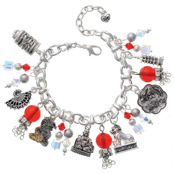 Red Lantern Chinese Charm Bracelet