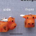 N1105+ tlf - Longhorn - 3-D Hand Painted Resin Charm (6 per package)