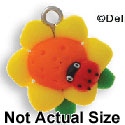 FM1005+ tlf - Sunflower with Ladybug - 3-D Fimo Charm  (6 per package)