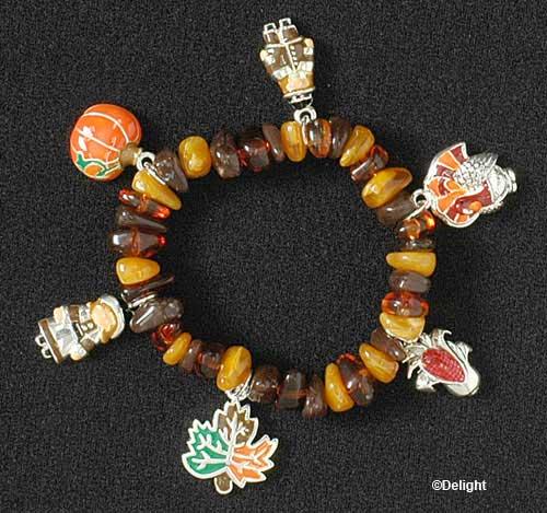 thanksgiving charm bracelet
