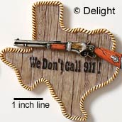5433 tlf - Texas 911 - Resin Decoration (12 per package)