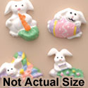 0638 tlf - Mini 4 Assorted Pastel Easter Bunny Set - Resin Decoration (12 per package)