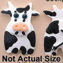 0661 tlf - Cow - Front Back Assorted - Resin Decoration (12 per package)