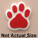 1821 tlf - Medium Red Paw - Resin Decoration (12 per package)