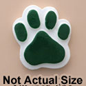 1822 tlf - Medium Green Paw - Resin Decoration (12 per package)