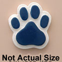 1823 tlf - Medium Blue Paw - Resin Decoration (12 per package)