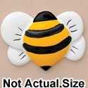 2792 tlf - Bee Front Yellow - Resin Decoration (12 per package)