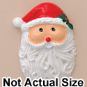 3520 tlf - Santa Face Holly Medium - Resin Decoration (12 per package)