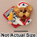 3668 tlf - Small Nurse Bear Face- Resin Decoration (12 per package)