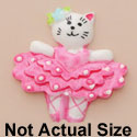 3867 ctlf - Ballet Cat Hot Pink Medium - Resin Decoration (12 per package)
