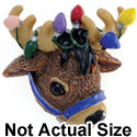 3944* ctlf - Reindeer Lights Bridle Medium - Resin Decoration (12 per package)