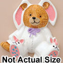 4080 tlf - Bear in Bunny Suit - Resin Decoration (12 per package)