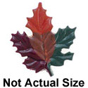 4187 tlf - Small Multicolored Fall Leaf - Resin Decoration (12 per package)