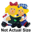 4190 tlf - Boy & Girl Rag Dolls - Flat Backed Resin Decorations (12 per package)