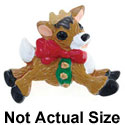 4294* tlf - Reindeer Side Bells Medium - Resin Decoration (12 per package)