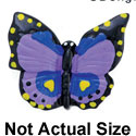 4766 tlf - Medium Purple Monarch Butterfly - Resin Decoration (12 per package)