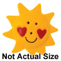 5028-PLAIN tlf - Large Yellow Sun with Red Heart Cheeks - Resin Decoration (12 per package)