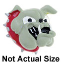 5556* - Large Bulldog with Red Collar - Resin Decoration (12 per package)