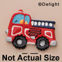 9300 ctlf - Medium Fire Engine Truck - Resin Decoration (12 per package)
