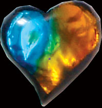 Dichroic Heart Decoration