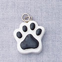 7047 - Paw Black - Resin Charm (12 per package)